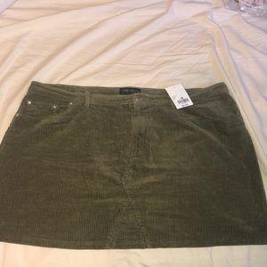Plus Size Corduroy Mini Skirt